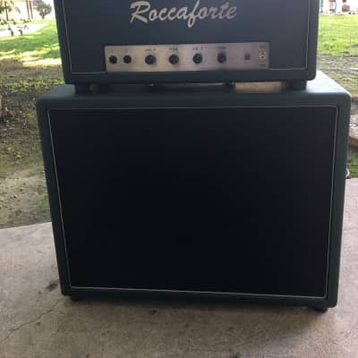 Roccaforte  Rockie 30 amp Head in British Green.  Custom cabinet now included!! for sale