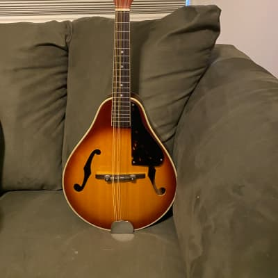 Bently A Type Mandolin 1970s Sunburst with new Grover tuners and original case for sale
