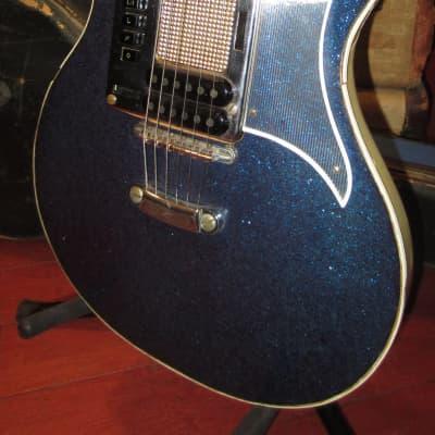 Vintage 1960's  Hagstrom Goya Deluxe 90 Blue Sparkle Finish w/ Original Case for sale