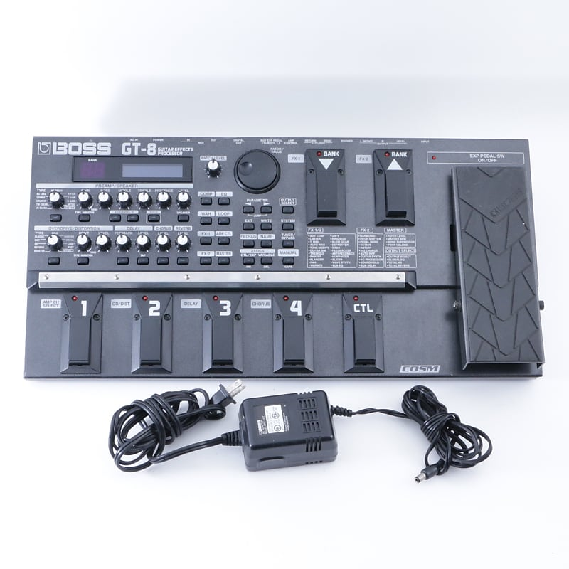 boss gt 8 guitar multi effects pedal power supply reverb. Black Bedroom Furniture Sets. Home Design Ideas