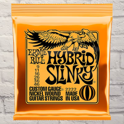 Ernie Ball EB2222 Hybrid Slinky Electric Guitar Strings 9 - 46