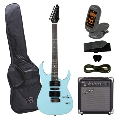 Artist AG45 Sonic Blue Electric Guitar Plus Accessories with Amp for sale