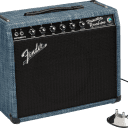 Fender 65 Princeton Reverb Chilewich Denim,Celestion Alnico Blue, Open Box 4396