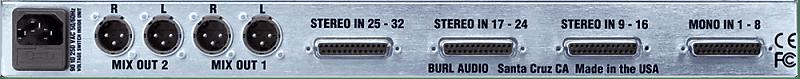 burl audio b32 vancouver summing mixer reverb. Black Bedroom Furniture Sets. Home Design Ideas