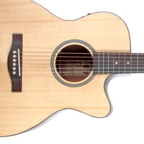 Teton STG100CENT Spruce/Mahogany Grand Concert with Electronics Natural