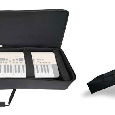 Rockville 61 Key Keyboard Case w/ Wheels+Trolley Handle For Korg KINGKORG