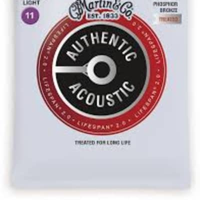 Martin MA535T Lifespan 2.0 Phosphor Bronze Acoustic Guitar Strings, .011-.052