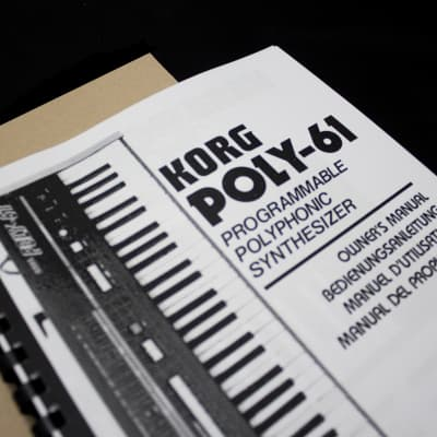 Korg Manual Korg Poly-61 Booklet / English / Spanish