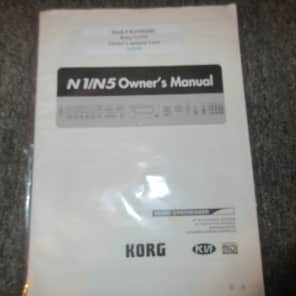 Used Korg N1/N5 Owners Manual