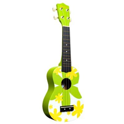 AMAHI GREEN FLOWER SOPRANO UKULELE for sale