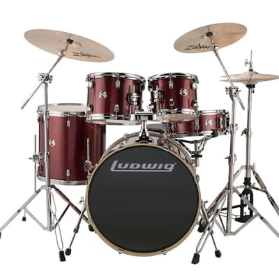 Ludwig Element Evolution 5-Piece Drum Set Wine Red Sparkle image