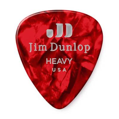 Dunlop 483R09HV Celluloid Standard Classics Heavy Guitar Picks (72-Pack)
