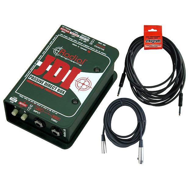 Radial jdi mk3 passive di box bundle geartree reverb for 2 aggiunta di box auto