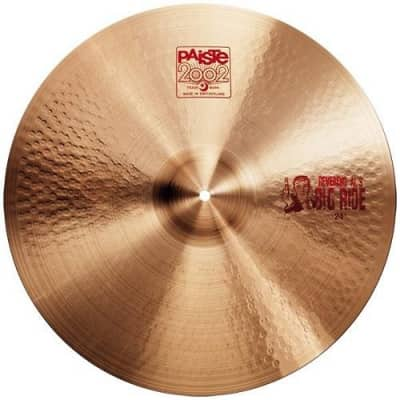 Paiste 2002 Series 24 Inch Big Ride Cymbal with Smooth & Fairly Integrated Bell Character (1061824)
