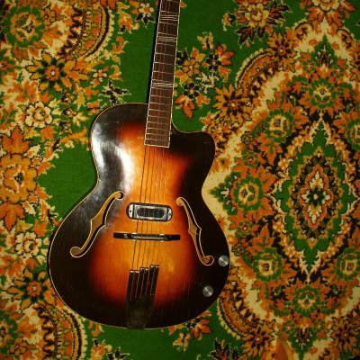 Lignatone  Hollow Body Soviet Electric Guitar jolana musima ORFEUS RARE 60's. for sale