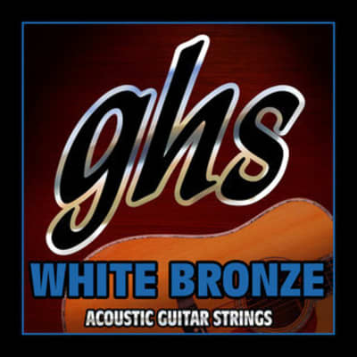 GHS Acoustic Guitar Strings White Bronze Medium .013-.056