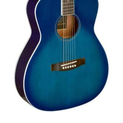 J.N GUITARS Transparent blueburst acoustic auditorium guitar with solid spruce top, Bessie series BES-A TBB
