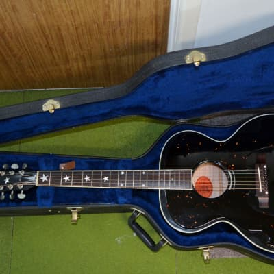 Gibson J-180 Historic Collection Acoustic Electric Guitar with Gibson Case Black for sale