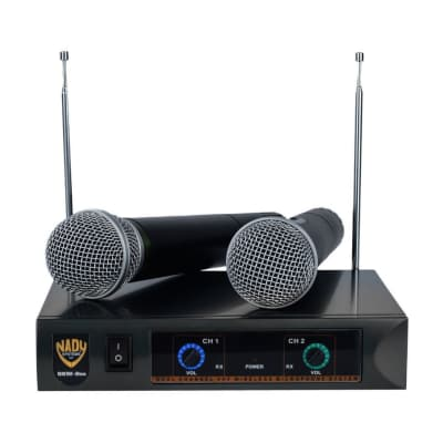 Nady DKW-DUO HT Dual VHF Handheld Wireless Microphone System (Bands B, D)