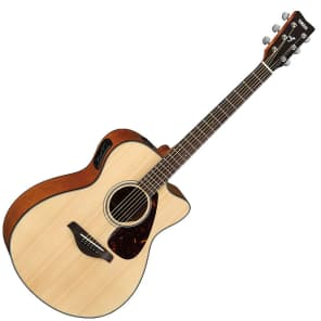 Yamaha FSX700SC Solid Spruce Top Concert Cutaway Acoustic/Electric Guitar Natural