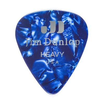 Dunlop 483P10HV Celluloid Standard Classics Heavy Guitar Picks (12-Pack)