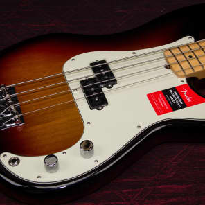 New Fender American Professional Precision Bass 3TSB Authorized Dealer Warranty OHSC for sale