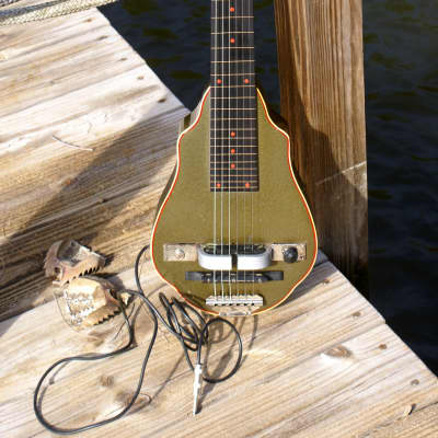 Stella Deluxe Lap Steel with Horseshoe Pickup - Circa 1937 for sale