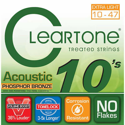 Cleartone Phosphor Bronze Acoustic Strings - 10-47