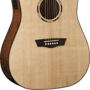 Washburn WLD10SCE Woodline Dreadnought Acoustic-Electric Guitar - Natural for sale