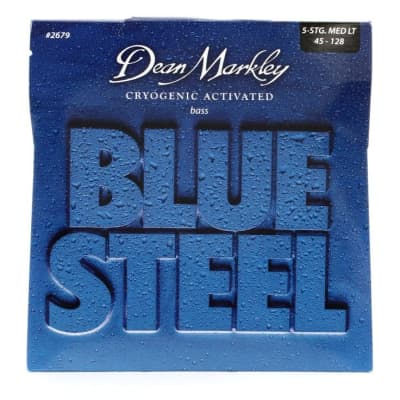 Dean Markley 2679 Blue Steel Bass Guitar Strings - .045-.128 Medium Lt 5-String