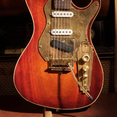 Postal Hand Made Memphis Rocket Deluxe Mahogany Thin Finish Fender Pickups Trem King Vibrato for sale