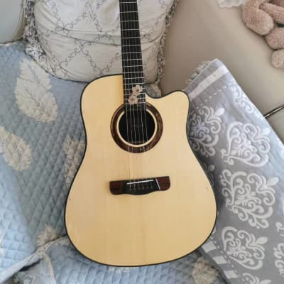 Merida Extrema Summer cutaway solid Spruce Top Acoustic guitar (Optional pickups can be added) for sale