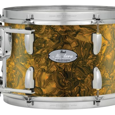 "Pearl Music City Custom 15""x14"" Masters Maple Reserve Series Tom Drum  w/optimount MRV1514T - Golden Yellow Abalone"