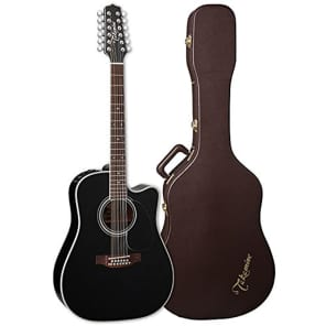 Takamine EF381SC 12-String Dreadnought Acoustic-Electric Guitar with Hard Case for sale