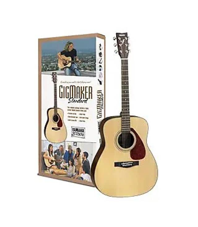 yamaha gigmaker standard acoustic guitar pack natural 2019 reverb. Black Bedroom Furniture Sets. Home Design Ideas