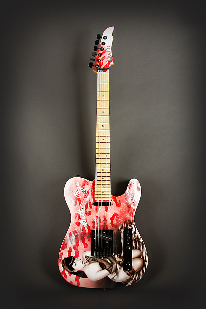 halo custom guitars official bettie page guitar 2011 hand reverb. Black Bedroom Furniture Sets. Home Design Ideas