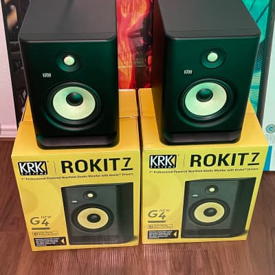 "KRK RP-7 Rokit G4 2-Way 7"" Active Studio Monitors (Pair) Black - Brand New"