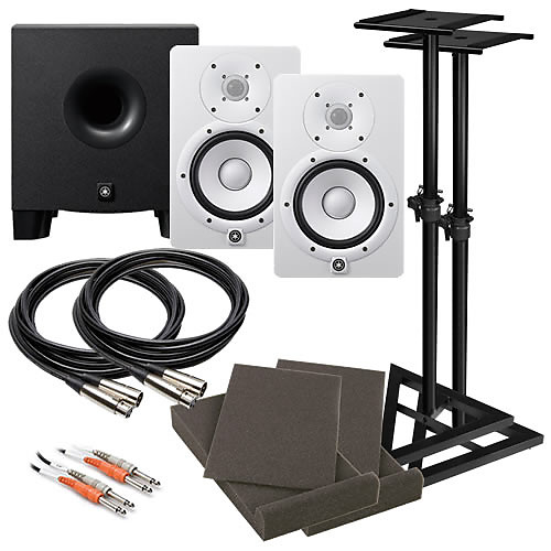 yamaha hs7 6 5 powered studio monitor speaker white reverb. Black Bedroom Furniture Sets. Home Design Ideas