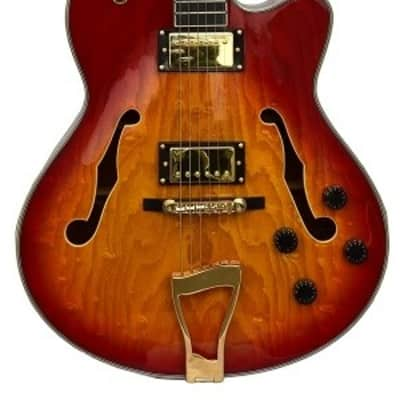 Le Marquis  F4000 Hollow Body Guitar Cherry Burst for sale