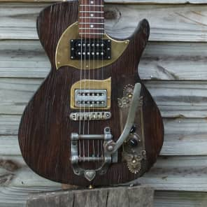 Postal Handmade Cross Road Barnwood Guitar for sale