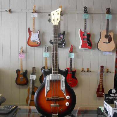 Vintage Airline Pocket Bass Sunburst for sale