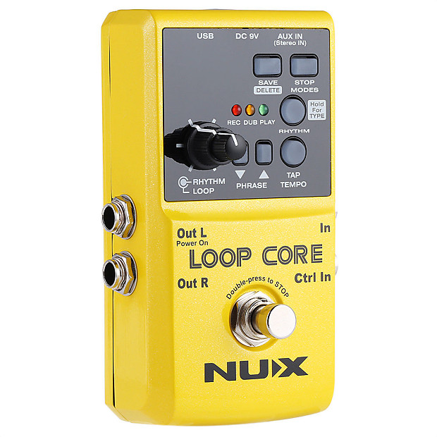 nux loop core stereo guitar effect pedal 6h recording 40 reverb. Black Bedroom Furniture Sets. Home Design Ideas