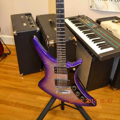 Guild X-79 80s Purple Silver Burst Sparkle for sale