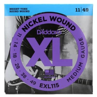 D'Addario EXL115 Electric Guitar Strings 11-48