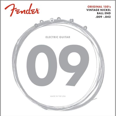 Fender 150L Pure Nickel Ball End 9-42, Electric Guitar Strings S-S150L