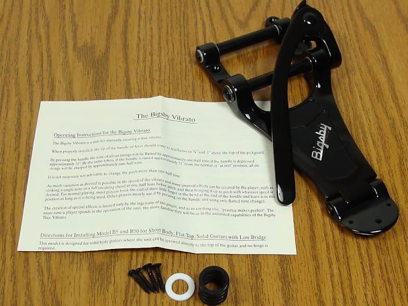 NEW Bigsby B700 Vibrato Tailpiece Black Bigsby Lic for Arch Top Guitar B-700