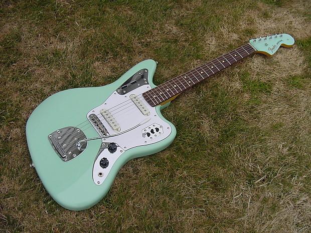 Surf Green Fender Squier Jaguar W Upgraded Custom Matching