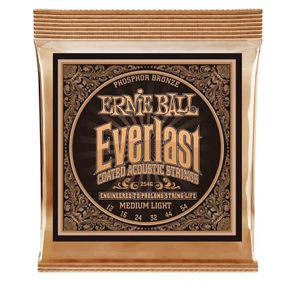 Ernie Ball 2546 Everlast Phosphor Bronze Acoustic Strings Light .012-.054