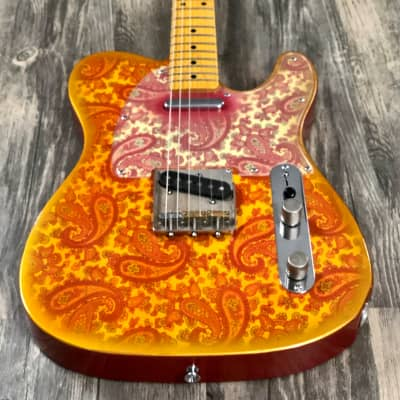 Crook Custom Guitars Tele Pink Paisley Light Relic for sale