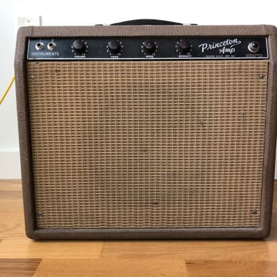 1961 Brownface Fender Princeton w/ slip cover for sale